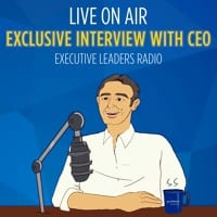 animated picture of a CEO sitting at a microphone