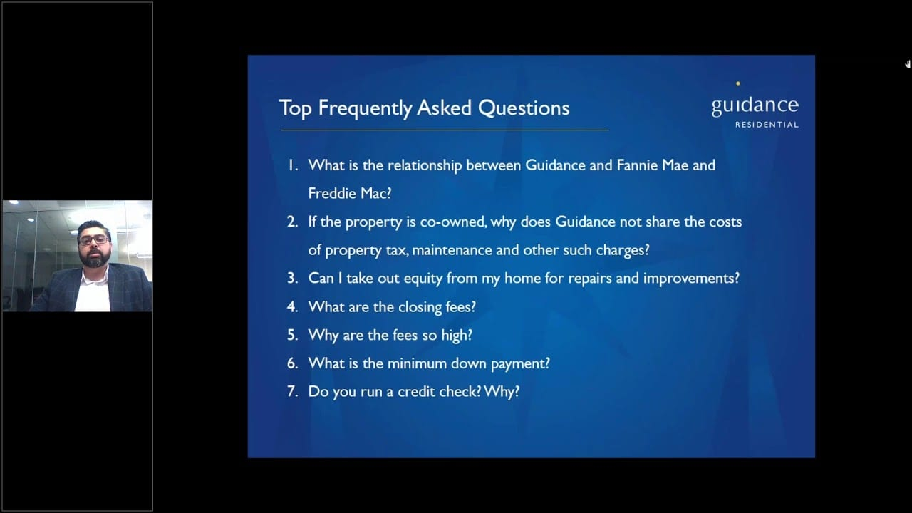 Guidance Residential faq powerpoint slide